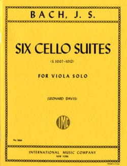 6 Suites Pour Violoncelle Transcrites Pour Alto (Bwv 1007-1012 ) Davis - laflutedepan.com