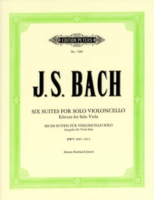 BACH - 6 Suites For Cello Only Transcribed For Viola - Sheet Music - di-arezzo.co.uk