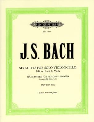BACH - 6 Suites Pour Violoncelle Seul Transcrites Pour Alto - Partition - di-arezzo.fr