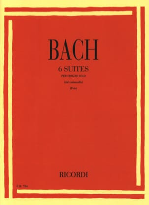 BACH - 6 Transcribed Suites for Violin Only - Sheet Music - di-arezzo.co.uk
