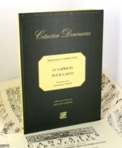 Bartolomeo Campagnoli - 41 Caprices pour l' Alto – Fac Simile – - Partition - di-arezzo.fr