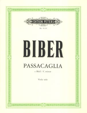 Heinrich Ignaz Franz Biber - Passacaglia C-Moll – Viola - Partition - di-arezzo.fr