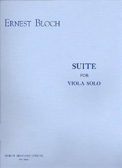 Ernest Bloch - Suite for viola solo - Partition - di-arezzo.fr