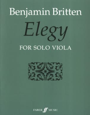 Benjamin Britten - Elegy - Partition - di-arezzo.fr