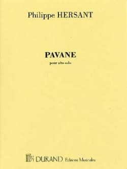 Philippe Hersant - pavane - Sheet Music - di-arezzo.co.uk