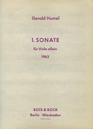 Gerald Humel - Sonate n° 1 für Viola allein (1963) - Partition - di-arezzo.fr