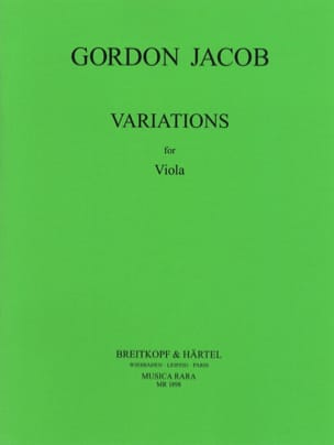 Variations Gordon Jacob Partition Alto - laflutedepan