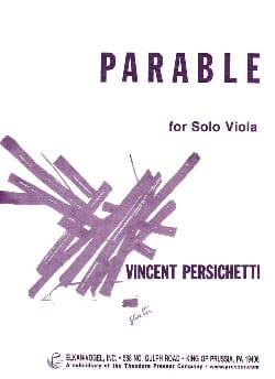 Parable for solo Viola Vincent Persichetti Partition laflutedepan