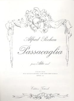 Passacaglia - Alfred Pochon - Partition - Alto - laflutedepan.com