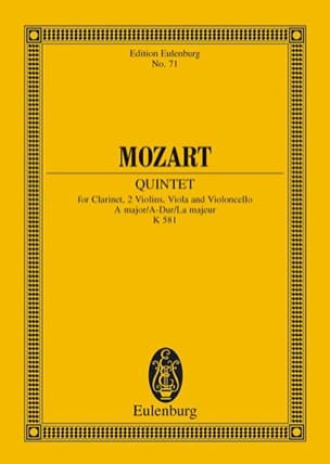 MOZART - Quintett A-Dur Kv 581 the M. - Sheet Music - di-arezzo.co.uk