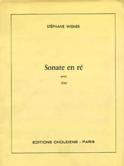 Sonate en ré - Stéphane Wiener - Partition - Alto - laflutedepan.com