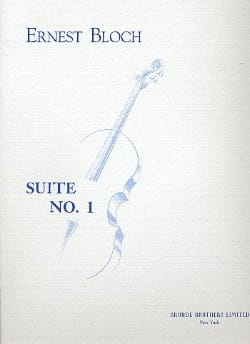 Ernest Bloch - Suite n° 1 - Cello solo - Partition - di-arezzo.fr
