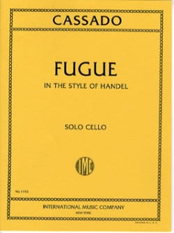 Fugue in the style of Handel Gaspar Cassado Partition laflutedepan