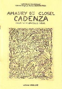 Cadenza Amaury du Closel Partition Violoncelle - laflutedepan