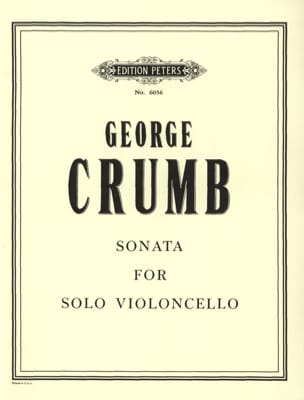 George Crumb - Sonata For Solo Violoncello - Partition - di-arezzo.fr