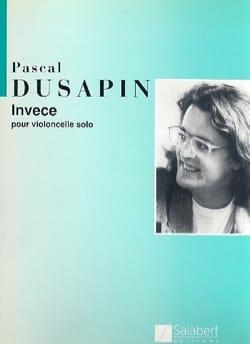 Pascal Dusapin - invece - Sheet Music - di-arezzo.com