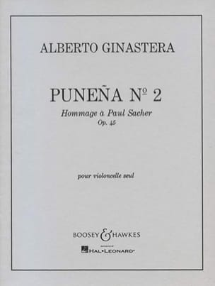 Alberto Ginastera - Punena n° 2 op. 45 - Partition - di-arezzo.fr