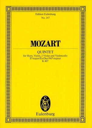 MOZART - Quintett Es-Dur KV 407 Es-Dur - Partition - di-arezzo.fr