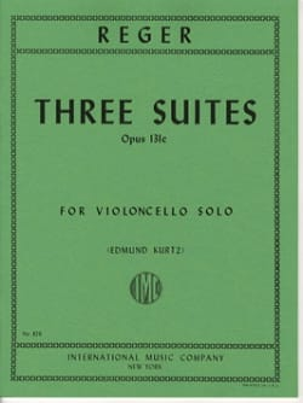 3 Suites op. 131c Max Reger Partition Violoncelle - laflutedepan