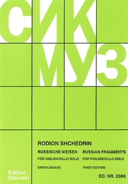Rodion Shchedrin - Russian Fragments - Violoncelle - Partition - di-arezzo.fr