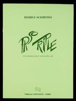 Paso Triple Patrice Sciortino Partition Violoncelle - laflutedepan
