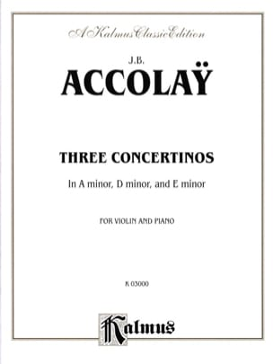 3 Concertinos Jean-Baptiste ACCOLAY Partition Violon - laflutedepan