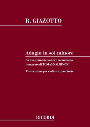 Albinoni Tomaso / Giazotto Remo - Adagio in sol minor - Violin - Partition - di-arezzo.co.uk
