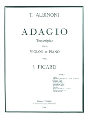 Tomaso Albinoni - Adagio - Violin - Sheet Music - di-arezzo.co.uk