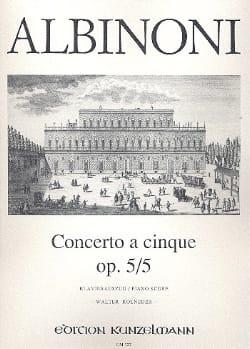 Concerto a cinque op. 5/5 - Violine Klavier ALBINONI laflutedepan