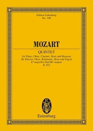 Wolfgang Amadeus Mozart - Quintett Es-Dur (Kv 452) - Conducteur - Partition - di-arezzo.fr