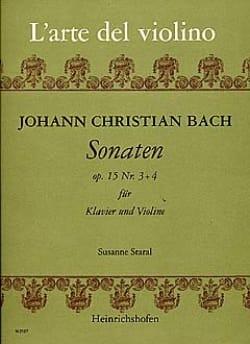 Johann Christian Bach - Sonaten op. 15 n° 3 et 4 - Partition - di-arezzo.fr