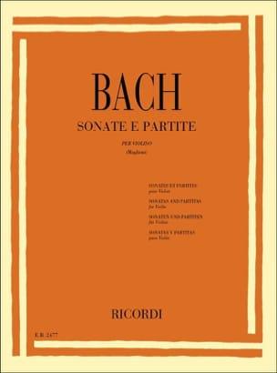6 Sonates et Partitas - BACH - Partition - Violon - laflutedepan.com
