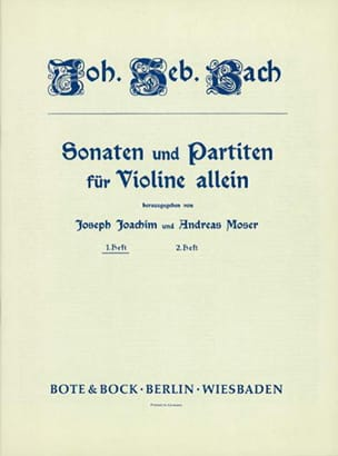 Johann Sebastian Bach - 6 Sonaten und Partiten Heft 1 - Partition - di-arezzo.fr