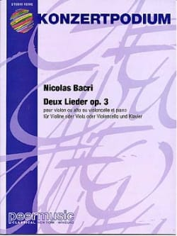 Nicolas Bacri - 2 Lieder op. 3 - Sheet Music - di-arezzo.co.uk