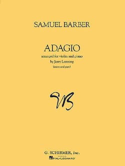 Samuel Barber - Adagio op. 11 - Violin piano - Sheet Music - di-arezzo.co.uk