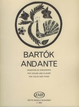 Andante BARTOK Partition Violon - laflutedepan