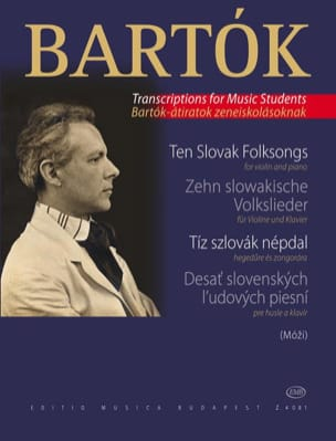 Béla Bartok - 10 Slowakische Volkslieder – Violine - Partition - di-arezzo.fr