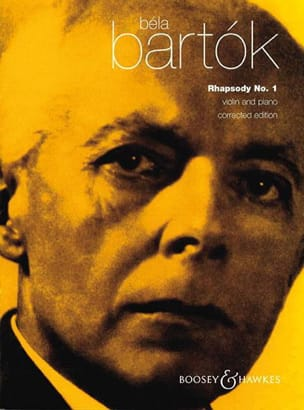 Bela Bartok - Rhapsody n° 1 for violin - Partition - di-arezzo.fr