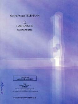 TELEMANN - 12 Fantasies - Solo flute - Sheet Music - di-arezzo.co.uk