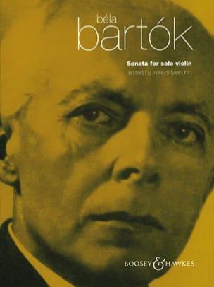 BARTOK - Sonata for Solo Violin Menuhin - Partition - di-arezzo.fr