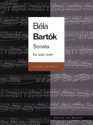 Sonata for Solo Violin Urtext BARTOK Partition Violon - laflutedepan