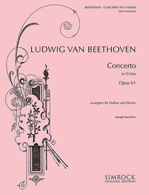Ludwig van Beethoven - Concerto Violon ré majeur op. 61 - Partition - di-arezzo.fr
