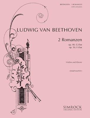 2 Romanzen Op. 40 G-Dur, Op. 50 F-Dur BEETHOVEN Partition laflutedepan