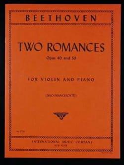 BEETHOVEN - 2 Romances op. 40 et op. 50 - Partition - di-arezzo.fr