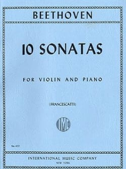 BEETHOVEN - 10 Sonatas Francescatti - Violin and piano - Sheet Music - di-arezzo.com