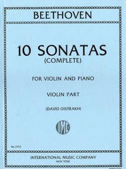 BEETHOVEN - 10 Oistrach Sonatas - Violin and Piano - Sheet Music - di-arezzo.com