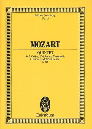 MOZART - Minor Solo Quintet for 2 Violins 2 Altos and Vcelle K 516 - Sheet Music - di-arezzo.co.uk