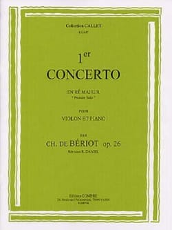 BÉRIOT - 1st Solo From Concerto No. 1 Op. 26 In D Major - Sheet Music - di-arezzo.co.uk
