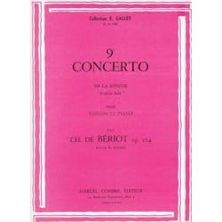 BÉRIOT - Concerto No. 9 op. 104 - Sheet Music - di-arezzo.co.uk