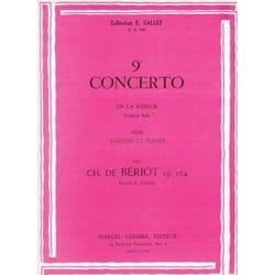 Concerto n° 9 op. 104 BÉRIOT Partition Violon - laflutedepan
